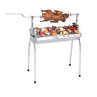 Bếp nướng than hoa đa năng 2 in 1,bếp nướng than hoa không khói,nướng ngoài trời,lò nướng thịt bằng than,inox DNM thumbnail