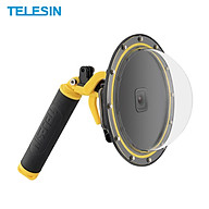 TELESIN 7-inch Action Camera Dome Port 30m Waterproof Protective Diving Housing Case Cover with Handle Grip Replacement thumbnail
