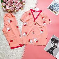 Bộ đồ ngủ, đồ bộ Pijama lụa nữ mặc nhà áo cộc quần lửng chất liệu lụa hàn freesezi thumbnail