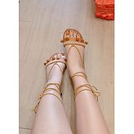 Giày Sandal cột dây thổ cẩm thumbnail