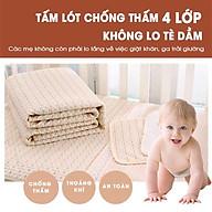 Lót chống thấm cho bé ORGANIC 80 x100cm, 60x100cm, 50x70cm, 30x45cm 100% COTTON HỮU CƠ TỰ NHIÊN thumbnail