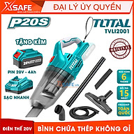 Máy hút bụi dùng pin Lithium 20V TOTAL TVLI2001 Kèm pin 20V 4A.h Sạc nhanh, 1 ống mềm, 1 bàn chải sàn và 2 ống nhựa thumbnail