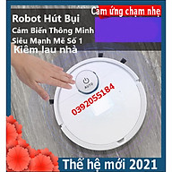 Robot Hút Bụi Thông Minh Thế Hệ Mới 2021 Siêu Mạnh Mẽ Tích Hợp Cảm Ứng Chạm, Kiêm Lau Nhà Bản Nâng Cấp thumbnail