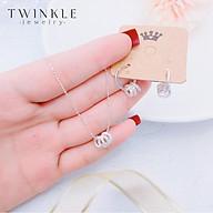 Bộ trang sức Three Circle - Vòng cổ bạc, Bông tai bạc nữ - Phụ kiện trang sức Twinkle Jewelry SET0002 thumbnail