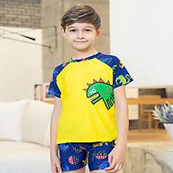 Đồ bơi bé trai in hình khủng long gồm nón thumbnail