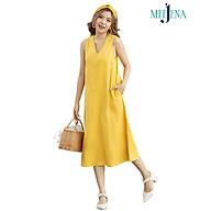 Váy Maxi Nữ Sát Nách Cổ TIM Vải LINEN Trơn 2 Màu 46 - 61 kg - MEEJENA - 3957 thumbnail
