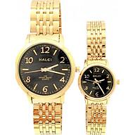 Cặp đồng hồ Nam Nữ Halei - HL484 Dây vàng thumbnail