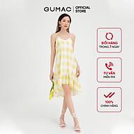 Đầm nữ 2 dây phối bèo GUMAC họa tiết caro trẻ trung, năng động DB482 thumbnail
