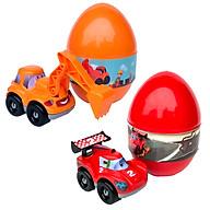 Combo 2 Trứng Khủng Long Sưu Tập Xe Ô Tô Đua Và Xe Xúc Công Trình BENRIKIDS-VJ2(Màu Ngẫu Nhiên) thumbnail