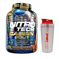 Combo Sữa tăng cơ NitroTech Casein Gold của MuscleTech hộp 71 lần dùng hỗ trợ duy trì protein cho cơ suốt 8 tiếng & Bình INOX 739ml (Mẫu ngẫu nhiên) thumbnail