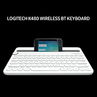 Logitech K480 Wireless BT Keyboard Portable Ultra-slim Office Keyboard Compatible with Windows Mac Android Chrome OS iOS thumbnail