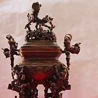 Đỉnh thờ thân trúc đồng giả cổ 30cm thumbnail