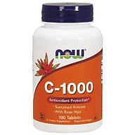 NOW Vitamin C-1000 Sustained Release - Bổ Sung Vitamin C Chiết Xuất Từ Nụ Tầm Xuân Giúp Chống Lão Hóa Tế Bào & Tăng Hệ Miễn Dịch Chai 100 Viên thumbnail