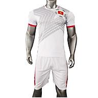 Bộ quần áo thi đấu đội tuyển Việt Nam màu trắng năm 2020, vải thun thể thao, thấm hút tốt, thoáng mát, co dãn, thoải mái vận động, kiểu dáng trẻ trung, có logo thumbnail