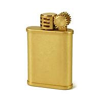 Hộp Qụet Bật Lửa Xăng Đá Z587 Thiết Kế Cổ Điển Nhỏ Gọn Tiện Lợi Màu Vàng Bụi - Dùng Xăng Bấc Đá Cao Cấp thumbnail