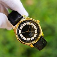 Đồng hồ nam dây da mặt tròn OM003207 phong cách Ý hiển thị lịch ngày Thiết kế sang trọng Lịch lãm Phù hợp đi làm đi chơi thumbnail