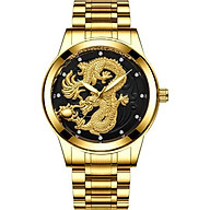 Đồng hồ nam chạm rồng vàng 3D thumbnail