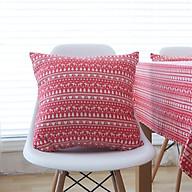 Vỏ gối vuông tựa lưng bằng vải bố cao cấp phong cách Bohemian (45 x 45 cm) thumbnail
