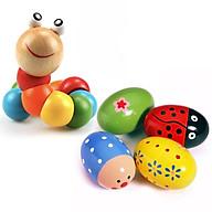 Sâu gỗ và trứng gỗ cho bé, Đồ chơi phát triển trí tuệ, Đồ chơi gỗ, Đồ chơi cho bé thumbnail