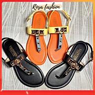 Sandal Kẹp Tán Đinh tán đi học - RF 2 màu đen cam thumbnail