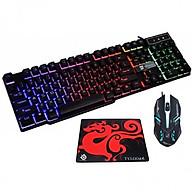 Bộ bàn phím giả cơ chuyên game và chuột Led 7 màu R8 1822 - K1 (Đen) + Tặng lót chuột - Hàng Nhập Khẩu thumbnail
