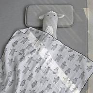 Chăn hè trẻ em, hình chú gấu nhảy múa Decoview, chất liệu cotton, KT 105x105cm thumbnail