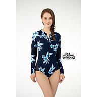 BIKINI PASSPORT - Đồ bơi áo tắm Một mảnh tay dài lưới & khoá - Floral BS198_FLO thumbnail