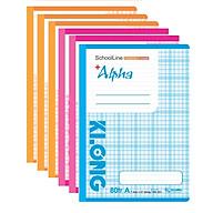 Lố 5 quyển vở kẻ ngang 80 trang Klong Alpha - TP831 thumbnail