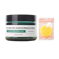 Kem Dươ ng Gia m Mu n Some By Mi AHA-BHA-PHA 30 Days Miracle Cream 50ml tặng kèm miếng rửa mặt thumbnail