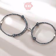 Vòng tay cặp titan nam châm phiên bản Hàn Quốc - Tặng hộp - Trang sức Bé Heo BHLT175 thumbnail