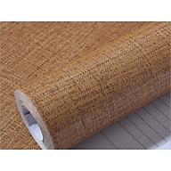 5M dài ngang 60cm giấy dán tường giả vải nâu sẫm, có keo sẵn, chất dày dặn, có thể lau được khi bẩn thumbnail