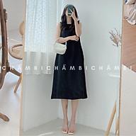 Váy kiểu nữ đẹp V.077, Váy sát nách chữ A dáng dài cổ tròn trơn nhiều màu style Hàn Quốc thumbnail