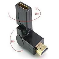 Đầu đổi góc HDMI- 1 đầu đực 1 đầu cái- xoay 180 độ thumbnail