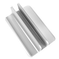 Aluminum Alloy Laptop Vertical Stand Base Silicone Non-slip Width Adjustable Laptop Phone Tablet Storage Base Silver thumbnail