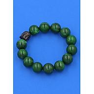 Vòng đeo tay Cẩm Thạch Đông Ninh 14 ly cẩn hạt Phật A Di Đà inox đen VCTDNNLE14 thumbnail