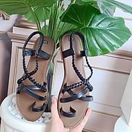 Sandal phong cách chiến binh quai chéo răng cưa xỏ ngón đi học đi biển thumbnail