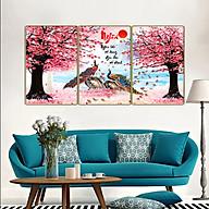 Bộ tranh treo tường 3 tấm- chim công - chim khổng tước 3233L10 thumbnail
