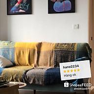 Thảm sofa phòng khách, Khăn phủ sopha dệt 2 mặt cao cấp thumbnail