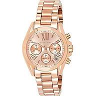 Michael Kors Women s Mini Bradshaw Silver-Tone Watch MK6174 thumbnail