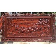Tranh gỗ MÃ ĐÁO THÀNH CÔNG gỗ HƯƠNG ĐỎ, GÕ ĐỎ 67cmx127cm thumbnail