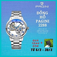 Đồng hồ cơ nam PAGINI PA2288 lộ máy cao cấp dây thép đúc Phong cách sang trọng, lịch lãm, thời thượng SIÊU KHỦNG thumbnail