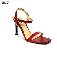 Giày Sandal Gót Nhọn Da Rắn Sulily SG1-IV20DO màu đỏ thumbnail