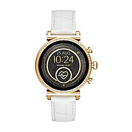 Michael Kors Access Women s Sofie Heart Rate Stainless Steel Touch-Screen Smartwatch with Silicone Strap, Black, 18 (Model MKT5069) thumbnail