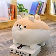 Gấu bông chó Shiba mập ú dễ thương, gấu bông cute, chất liệu vải nhung co dãn 4 chiều nhồi bông gòn cao cấp thumbnail