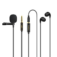 Lavalier Microphone Clip-on Omnidirectional Mic for Live Streaming Lectures Conference Mobile Phone Computer Monitoring thumbnail