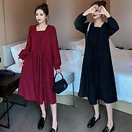Váy Bầu Công Sở Thu Đông Azuno AZ1811 Chất Liệu Nhung Ép Cao Cấp Mẫu Mới 2020 thumbnail