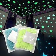 Gói 100 ngôi sao dạ quang dán tường thumbnail