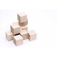 Combo 10 cục gỗ thông tự nhiên khối gỗ vuông làm thủ công handmade, vẽ hoặc đồ chơi (4x4x4cm) thumbnail