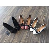 Giày búp bê nữ cao 2 cm gót vuông thumbnail