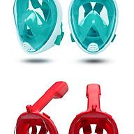 Mặt nạ bơi lặn - mặt nạ lặn biển du lịch - mặt nạ bơi có ống thở - Mặt nạ lặn có thiết kế gắn camera dưới nước thumbnail